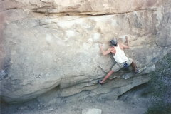 Rock Climbing Photo: My first trip to the desert. JTree 1998.