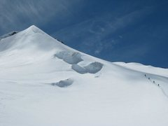 Rock Climbing Photo: Descending after a first ascent of an unnamed peak...