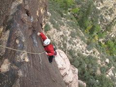 Rock Climbing Photo: Maura, pitch 1