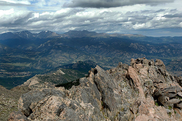 Rock Climbing Photo: Estes Park area from Twin Sisters Summit. Photo by...