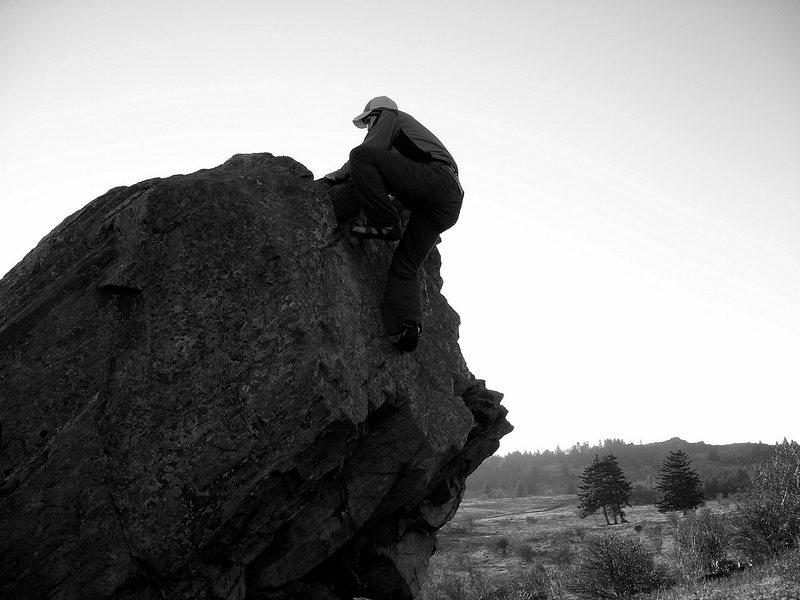 "Aaron James Parlier warming up on ""Welcome To The Highlands"" (v-2), Highlands Area, GHSP."