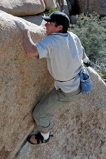 Cedar Wright on &quot;The Chube&quot; Mantle.<br> Photo by Blitzo.