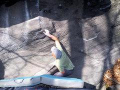 "Rock Climbing Photo: Aaron Parlier on the""cupola project"" Bon..."