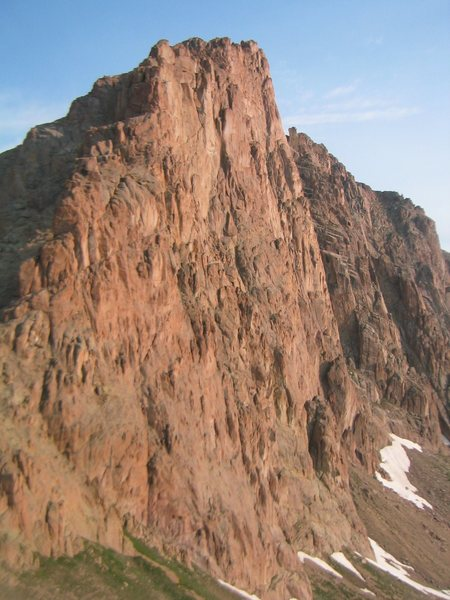 Monitor Peak's East face in the Needles in Colorado's San Juan Range.