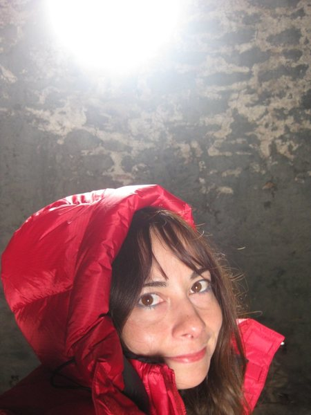 Having the time of my life, really....in a Wildrose charcoal kiln on a cold, and snowy day in the Panamint Mountains.<br> <br> Taken 1/19/10
