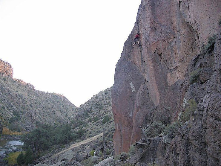 Rock Climbing Photo: FA Jay Foley, Joel Tinl belaying day 1 Crack in th...