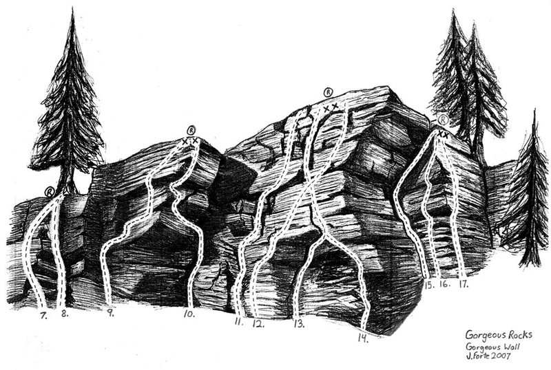 A sketch of the gorgeous wall in Lehigh Gorge, PA