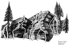 Rock Climbing Photo: A sketch of the gorgeous wall in Lehigh Gorge, PA