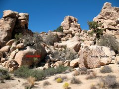 Rock Climbing Photo: Overview for the Purina Wall, Joshua Tree NP
