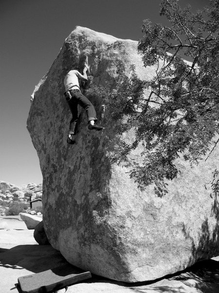 Rock Climbing Photo: Near the top of Old Triangle Classic (V0+), Joshua...