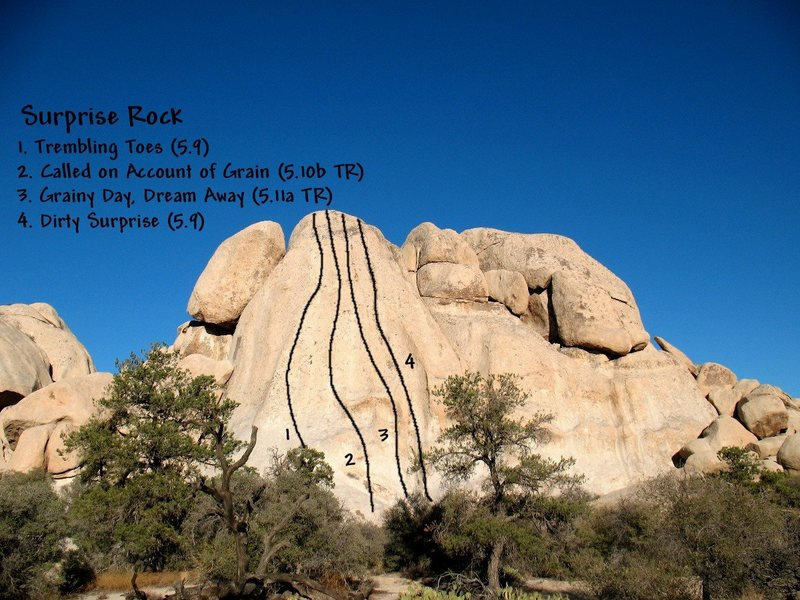 Photo/topo for Surprise Rock, Joshua Tree NP <br>