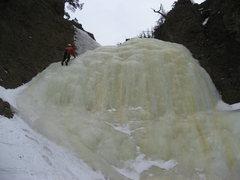 Rock Climbing Photo: P2 closeup.  Photo by Adam Sinner.  1/18/10