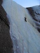 Rock Climbing Photo: Adam Sinner on P2.  1/16/10