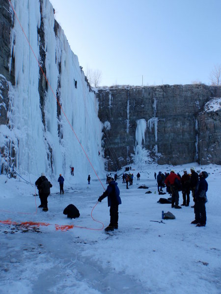 Rock Climbing Photo: Ice Pit Demo Days jan 2010