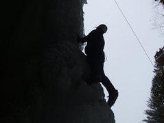 Rock Climbing Photo: Climbing up the backside of wildcat