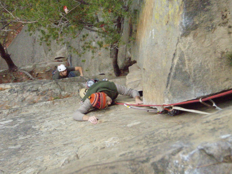 Rock Climbing Photo: Oct 2007.. Top half of Roadside Attraction
