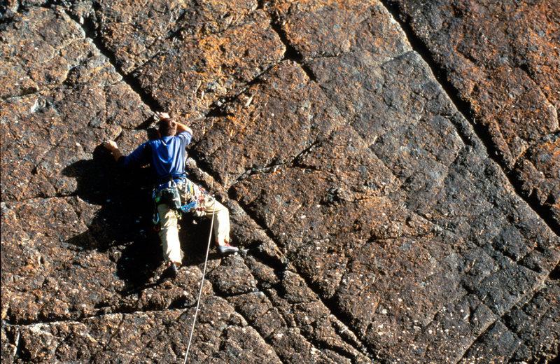 Rock Climbing Photo: James Loveridge leading The Pinnacle