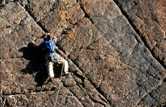 Rock Climbing Photo: James Loveridge leading The Pinnacle
