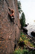 Rock Climbing Photo: Jason Schneider leading the Pinnacle