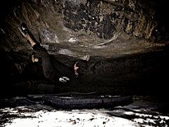 "Rock Climbing Photo: Jason Baker working ""Formula 50 (V10/11)&quot..."