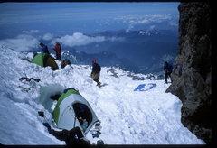 Rock Climbing Photo: Thumb Rock camp, Liberty Ridge