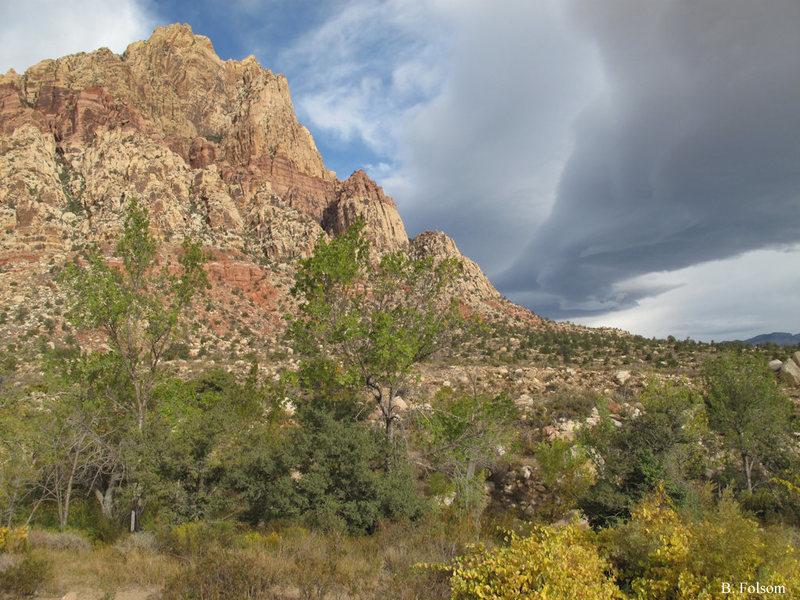 Rock Climbing Photo: Mt. Wilson on a windy day.