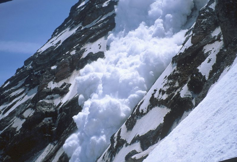 Avalanche on the Willis Wall, Mt. Ranier June 2000