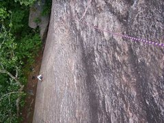Rock Climbing Photo: Looking down the first pitch of The Clincher.