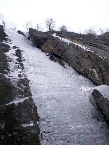 Rock Climbing Photo: Pitch one of Neurosis.