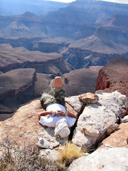Rock Climbing Photo: Resting on the edge.  by Bob Kerry