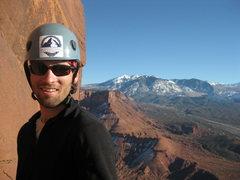 Rock Climbing Photo: 2nd Belay of Fine Jade (5.11) The Rectory, Utah