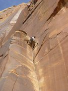 Rock Climbing Photo: off width at the top