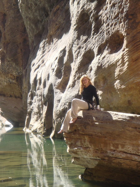 Rock Climbing Photo: Relaxing and taking in the scenery.