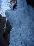Rock Climbing Photo: Justin Lead up the side of Tonti Jan 24 2009...