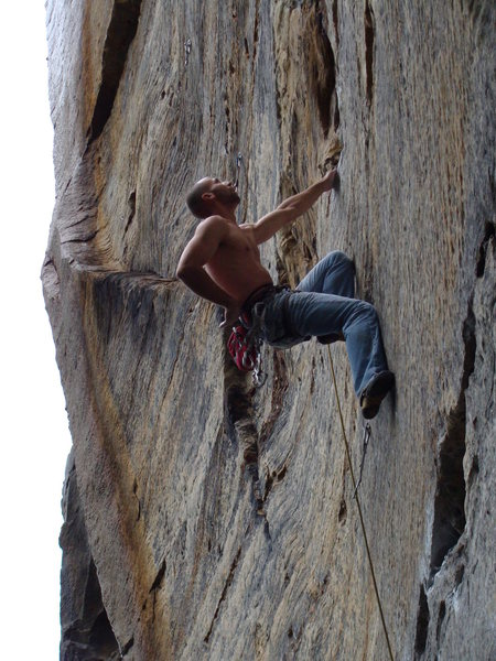 Rock Climbing Photo: Dog Leg 12a, RRG, Bob Marley