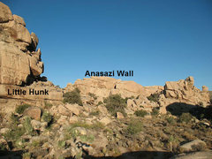 Rock Climbing Photo: Anasazi Wall from the vicinity of Snickers, Joshua...