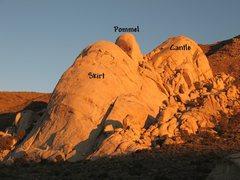 Rock Climbing Photo: Saddle Rocks, Joshua Tree NP