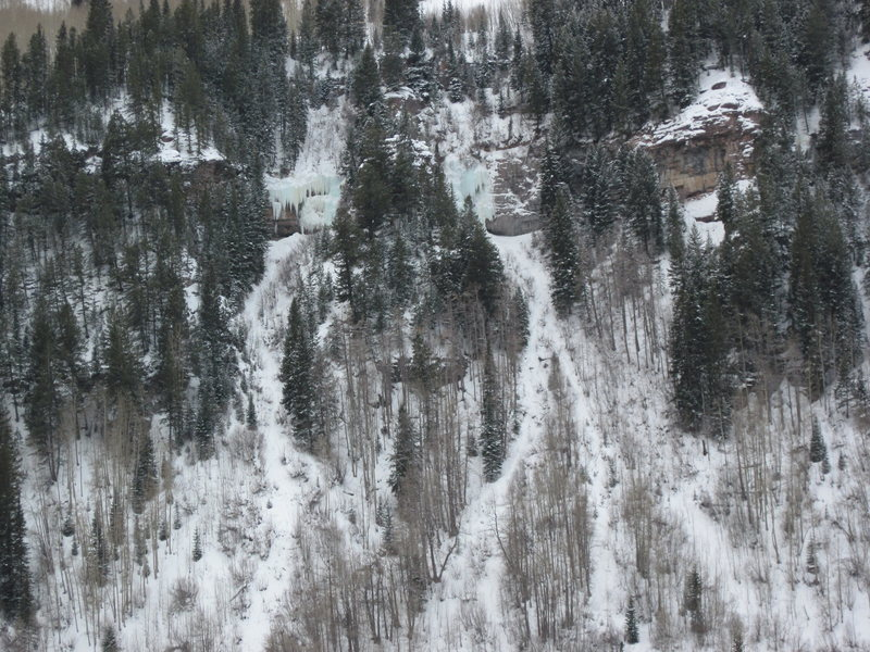Rock Climbing Photo: FireHouse area from I-70 on 01-22-10. Note that th...