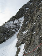 Rock Climbing Photo: Me leading on the Direct East Ridge of Mt. Bancrof...