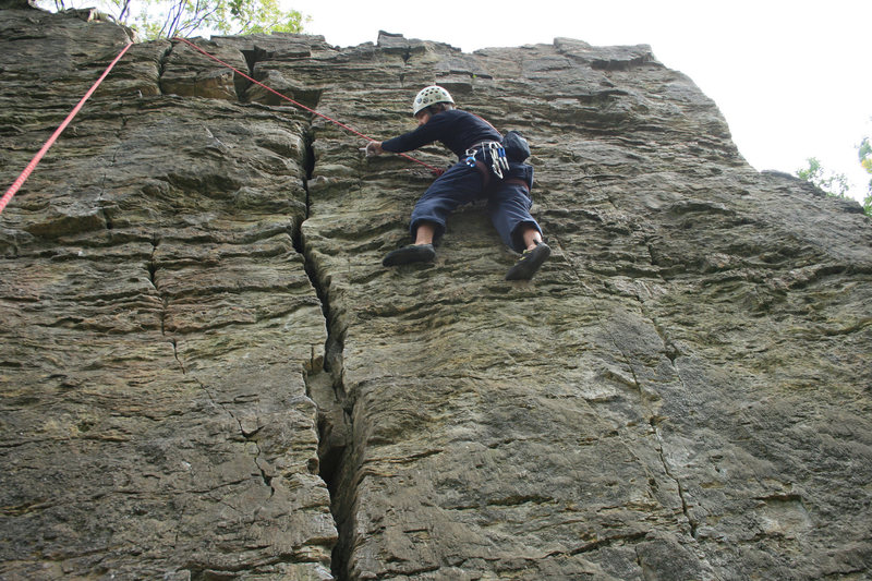 Rock Climbing Photo: Top of VE Day, interesting fossils everywhere