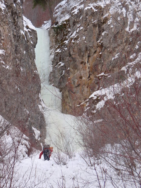 Rock Climbing Photo: A good look at Last Chance Falls from the approach...