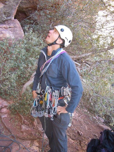 me gettin ready 2 climb in Red Rocks