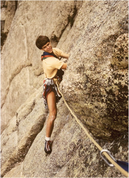 Rock Climbing Photo: Age 17, Pear Buttress, Lumpy Ridge, hexes and stop...