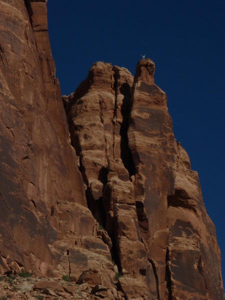 Rock Climbing Photo: Sept. 27,2009. Notice the little figure on the ver...