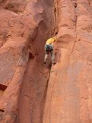 Rock Climbing Photo: Joe repelling poop chute