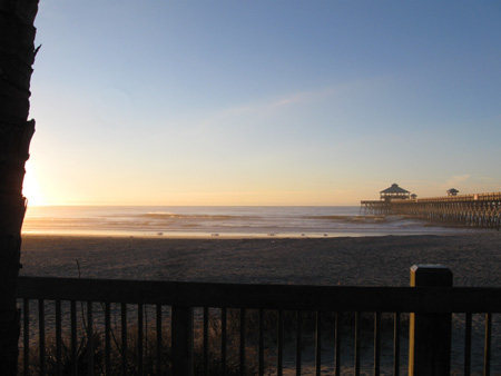 Rock Climbing Photo: Morning of MLK Day East side Folly Beach pier