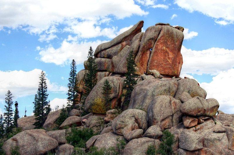 Rock Climbing Photo: A very famous Vedauwoo hardman climbing Finally.