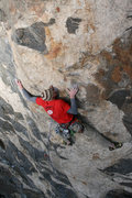 Rock Climbing Photo: Skipping the anchor of 100 proof, and slabing it u...