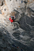 Rock Climbing Photo: Another view of the extension of 100 Proof to the ...
