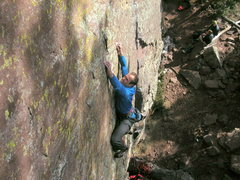 Rock Climbing Photo: Josh crimpn' on Camouflage.